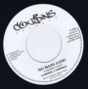 Cornell Campbell : No Mans Land | Single / 7inch / 45T  |  Dancehall / Nu-roots
