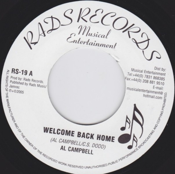 Al Campbell : Welcome Back Home | Single / 7inch / 45T  |  UK