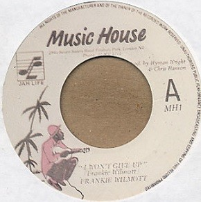 Frankie Wilmott : I Won't Give Up | Single / 7inch / 45T  |  Oldies / Classics