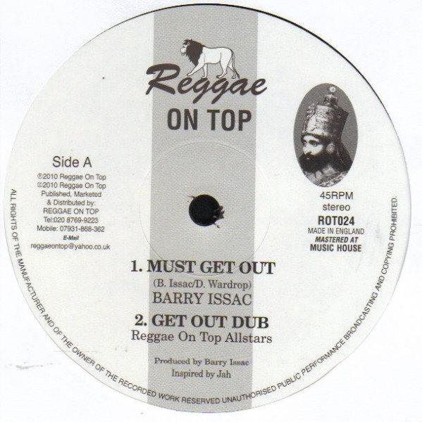 Barry Issac : Must Get Out ( 12 24 )   Maxi / 10inch / 12inch     UK