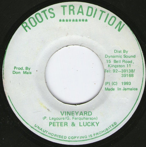 Peter & Lucky : Vineyard | Single / 7inch / 45T  |  Oldies / Classics