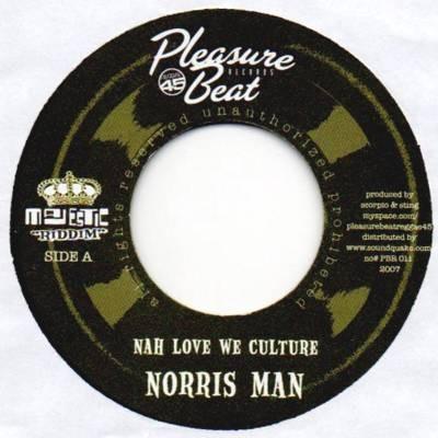 Norris Man : Nah Love We Culture | Single / 7inch / 45T  |  Dancehall / Nu-roots
