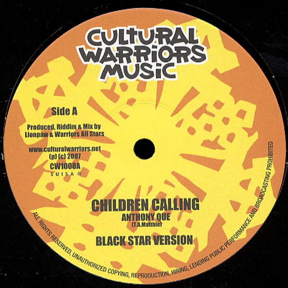 Anthony Que : Children Calling | Maxi / 10inch / 12inch  |  UK