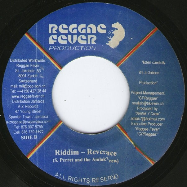 Anthony B : Reverence | Single / 7inch / 45T  |  Dancehall / Nu-roots