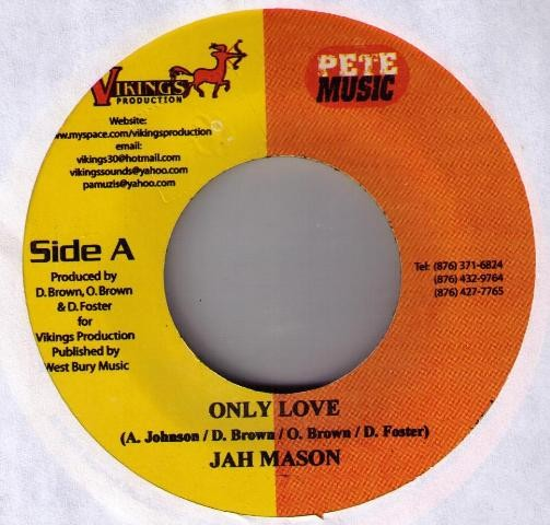 Jah Mason : Only Love | Single / 7inch / 45T  |  Dancehall / Nu-roots