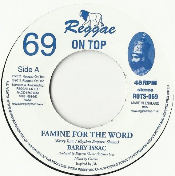 Barry Issac : Famine For The Word   Single / 7inch / 45T     UK