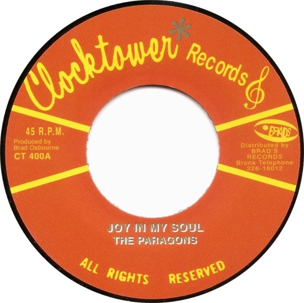 The Paragons : Joy In My Soul | Single / 7inch / 45T  |  Oldies / Classics