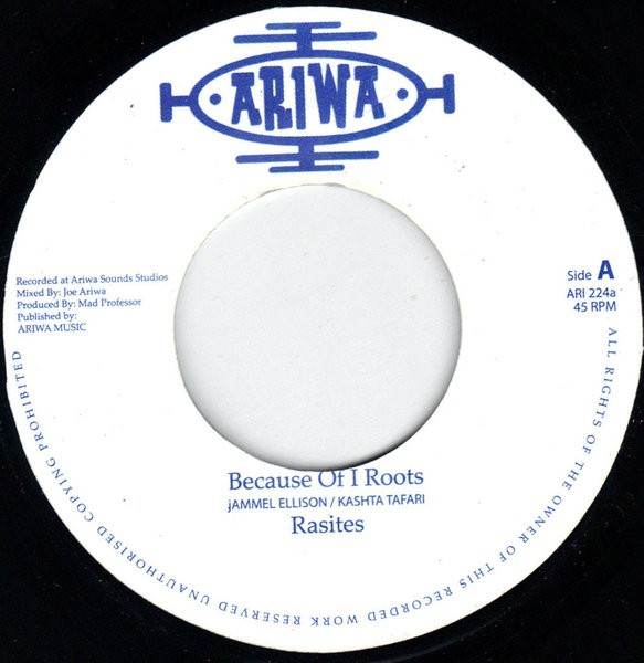 Rasites : Because Of I Roots | Single / 7inch / 45T  |  UK