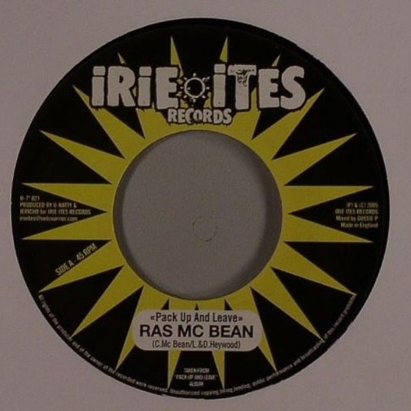 Ras Mcbean : Pack Up And Leave   Single / 7inch / 45T     Dancehall / Nu-roots