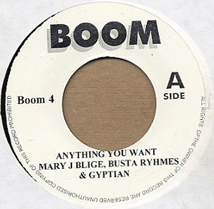 Mary J Blige Busta Rymes & Gyptian : Anything You Want | Single / 7inch / 45T  |  Mash Ups / Remixs
