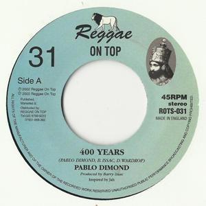 Pablo Dimond : 400 Years | Single / 7inch / 45T  |  UK