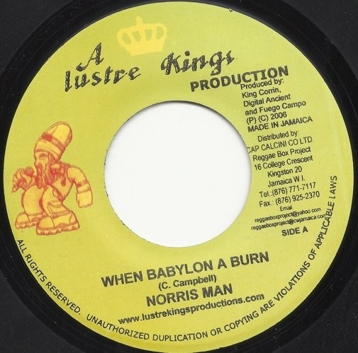 Norris Man : Where The Wind Blows | Single / 7inch / 45T  |  Dancehall / Nu-roots