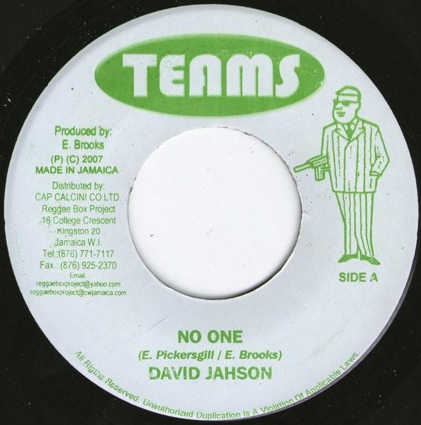 David Jahson : No One   Single / 7inch / 45T     Oldies / Classics