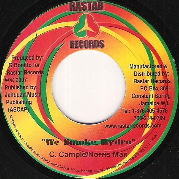 Norris Man & C.campbel : We Smoke Hydro | Single / 7inch / 45T  |  Dancehall / Nu-roots