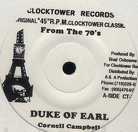 Cornell Campbell : Duke Of Earl | Single / 7inch / 45T  |  Oldies / Classics