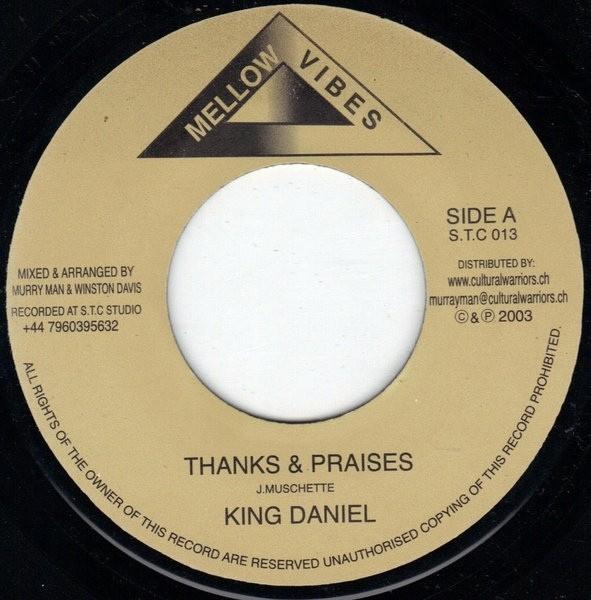 King Daniel : Thanks And Praises | Single / 7inch / 45T  |  UK