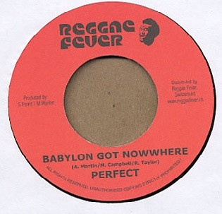 Perfect : Babylon Got Nowhere | Single / 7inch / 45T  |  Dancehall / Nu-roots