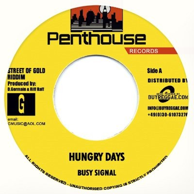 Busy Signal : Hungry Days | Single / 7inch / 45T  |  Dancehall / Nu-roots