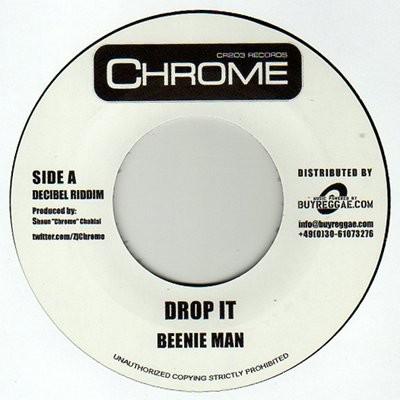 Beenie Man : Drop It   Single / 7inch / 45T     Dancehall / Nu-roots