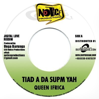 Queen Ifrica : Tiad A Da Supm Yah | Single / 7inch / 45T  |  Dancehall / Nu-roots