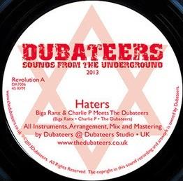 Biga Ranx Meets Charlie P : Haters   Single / 7inch / 45T     UK