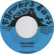 Ronnie Pickett : Live In Unity | Single / 7inch / 45T  |  Oldies / Classics