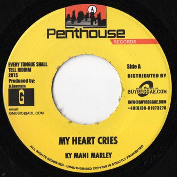 Ky Mani Marley : My Heart Cries | Single / 7inch / 45T  |  Dancehall / Nu-roots