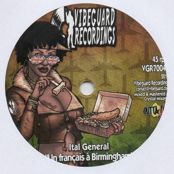 Ital General : Un Francais A Birmingham | Single / 7inch / 45T  |  FR