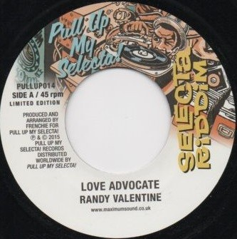 Randy Valentine : Love Advocate   Single / 7inch / 45T     Dancehall / Nu-roots