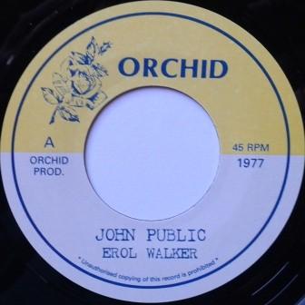 Erol Walker : John Public | Single / 7inch / 45T  |  Oldies / Classics