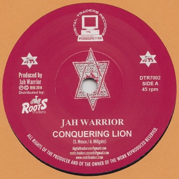 Jah Warrior : conquering lion   Single / 7inch / 45T     UK