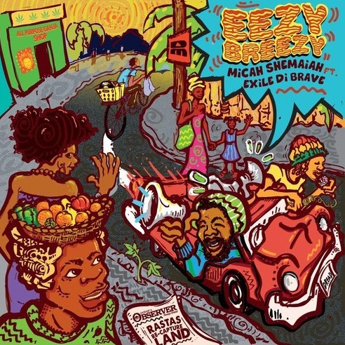 Micah Shemaiah Feat. Exile Di Brave : Eezy Breezy | Single / 7inch / 45T  |  UK