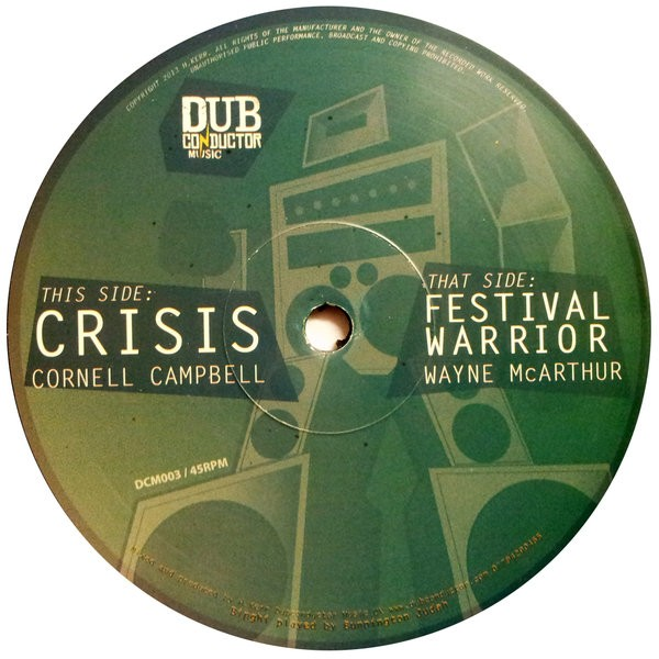 Cornell Campbell : Crisis | Maxi / 10inch / 12inch  |  UK