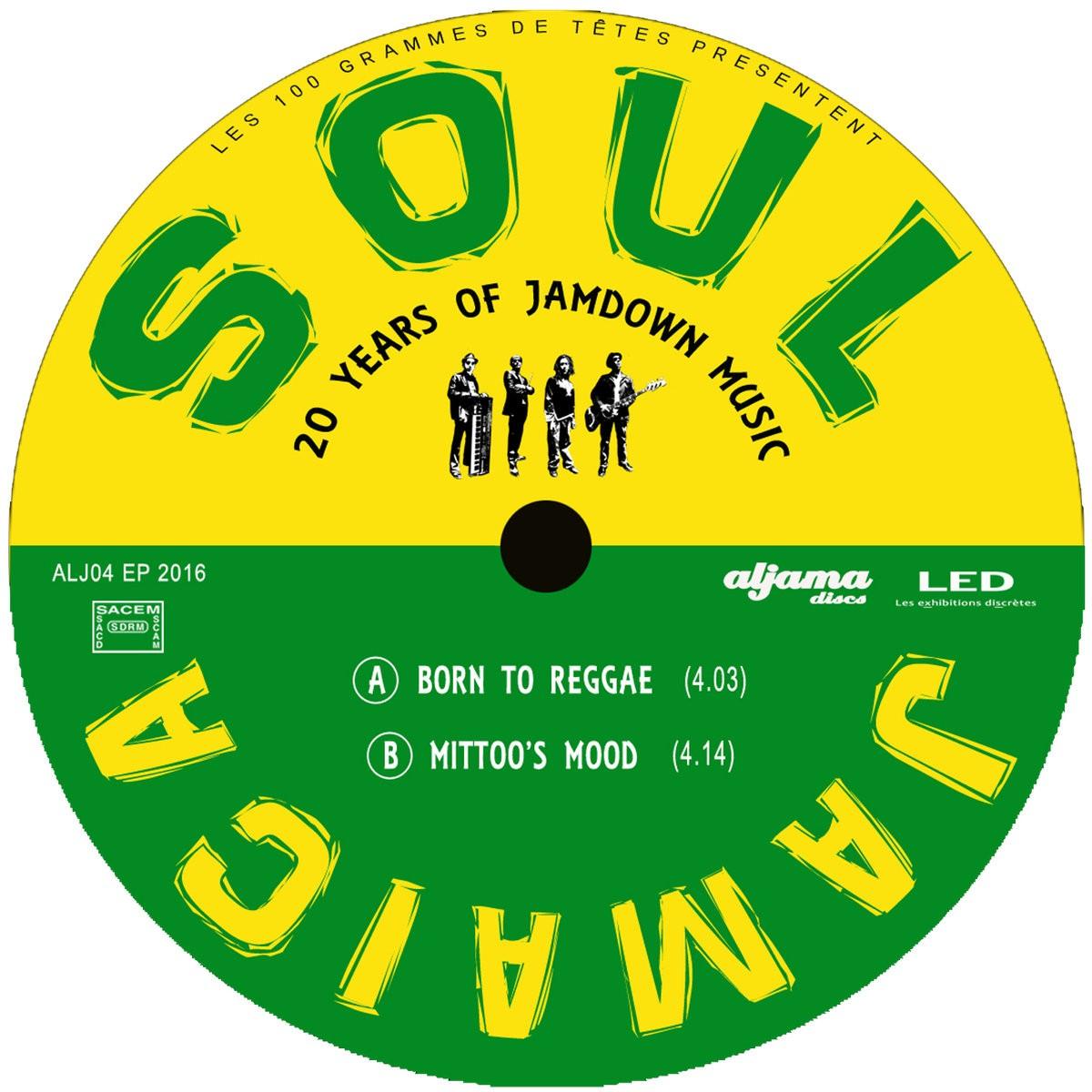 Soul Jamaica : Born To Reggae | Single / 7inch / 45T  |  FR