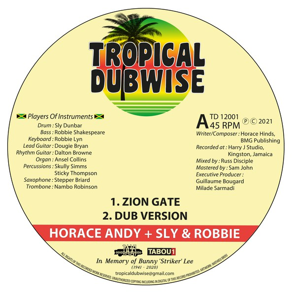 Horace Andy : Zion Gate | Maxi / 10inch / 12inch  |  UK