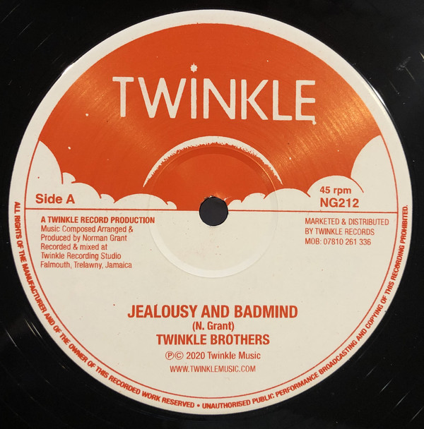 Twinkle Brothers : Jealousy And Badmind   Maxi / 10inch / 12inch     UK